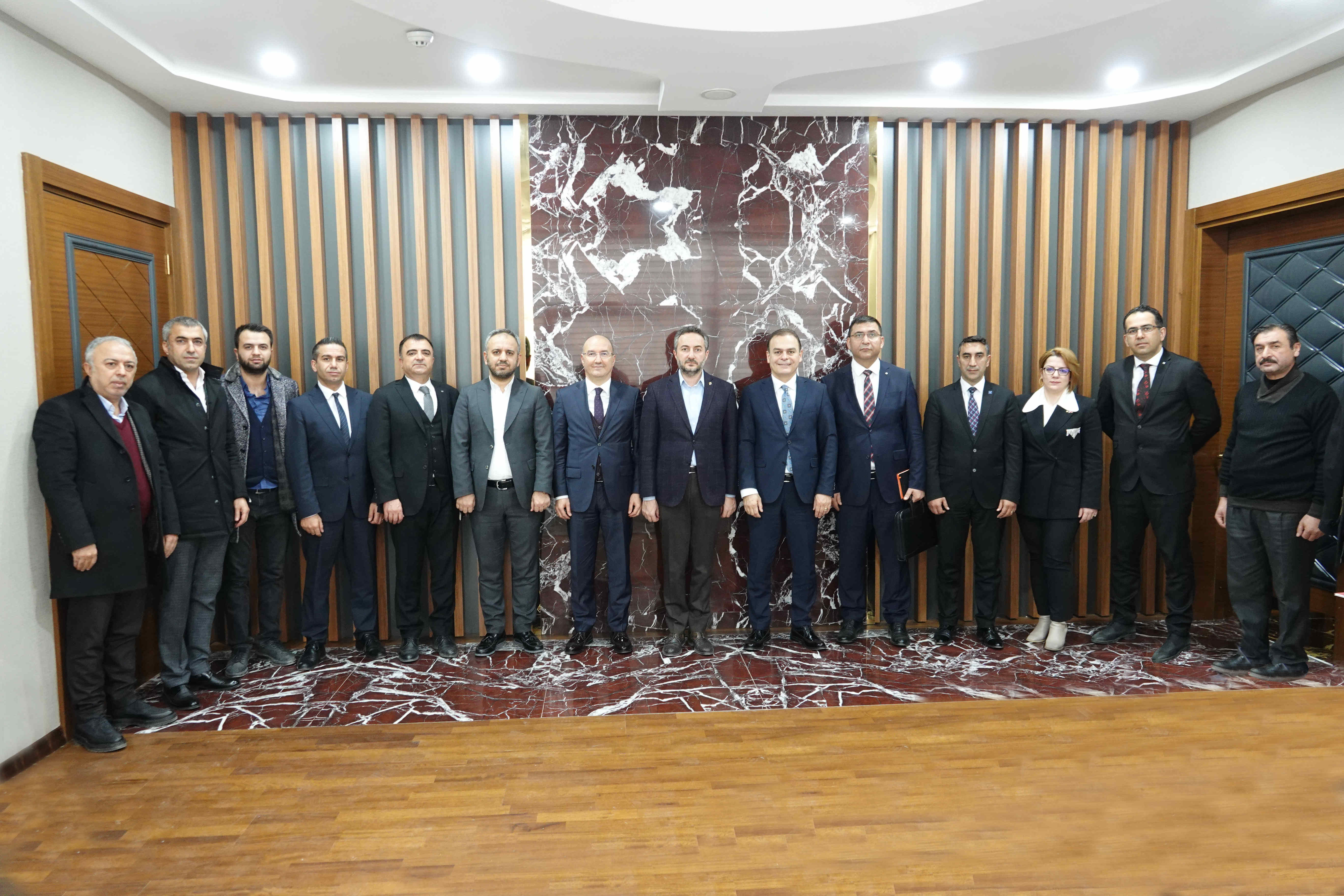 HALK BANKASI HEYETİYLE İSTİŞARE TOPLANTISI