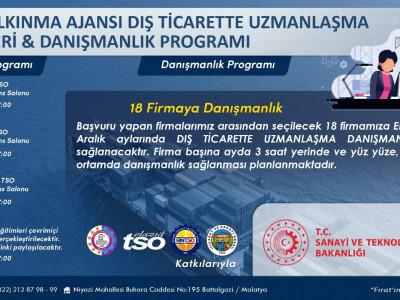 Dış Ticarette Uzmanlaşma Eğitimleri ve Danışmanlık Programı… a