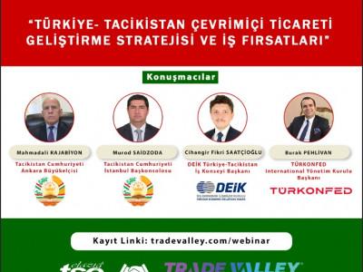 Türkiye-Tacikistan Çevrimiçi Ticareti Geliştirme Stratejisi ve İş Fırsatları Semineri a